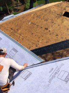 Tile Roof in Progress, Underlayment Being Installed To Go Under Tile by Zoller Roofing in Sarasota FL