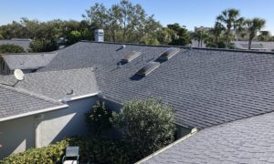 Aerial View of Gray Shingle Roof by Zoller Roofing in Sarasota FL