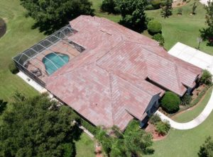 Aerial View of Floridian Blend Tile Roof by Zoller Roofing in Sarasota FL