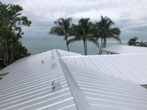 5 V Crimp Metal Roof Zoller Roofing Siesta Key Birds Eye View