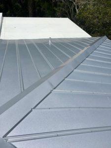 Close Up of Metal Roof in Progress Zoller Roofing Sarasota FL