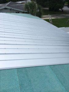 Metal 5V Roof in progess, Sarasota FL, Zoller Roofing