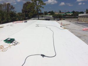 Flat Roof during installation, Sarasota FL