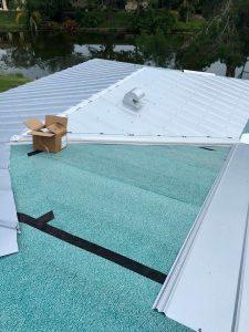 Metal Roof Installation in Progress by Zoller Roofing in Sarasota FL