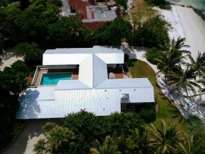 5V Metal Roof, Siesta Key, Side View, Zoller Roofing, Sarasota FL