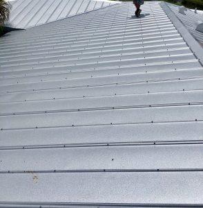 Close Up of Metal Roof Panels, Zoller Roofing, Sarasota FL