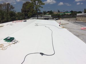 Commercial Flat Roof Installation by Zoller Roofing in Sarasota Fl