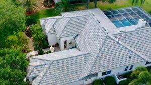 Slate Blend Flat Tile Roof by Zoller Roofing in Sarasota FL