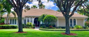 Front View of Flat Tile Roof by Zoller Roofing in Serenoa, Sarasota FL