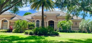 Front View of Flat Tile Roof by Zoller Roofing in Laurel Oak, Sarasota FL