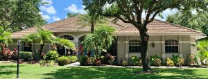 Front View of Low Profile Barrel Tile Roof by Zoller Roofing in Sarasota FL