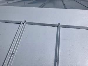 Super Up Close View of Metal Roof Panel by Zoller Roofing in Sarasota FL