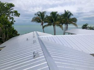 Close Up View Metal Roof by Zoller Roofing, Siesta Key, Sarasota FL