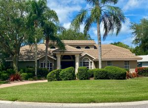 Front View of Capistrano Style Tile Roof in Deer Creek, Sarasota FL by Zoller Roofing