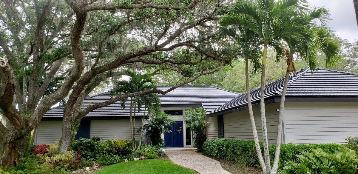 Eagle Flat Tile Roof in Misty Creek, Sarasota FL, Zoller Roofing