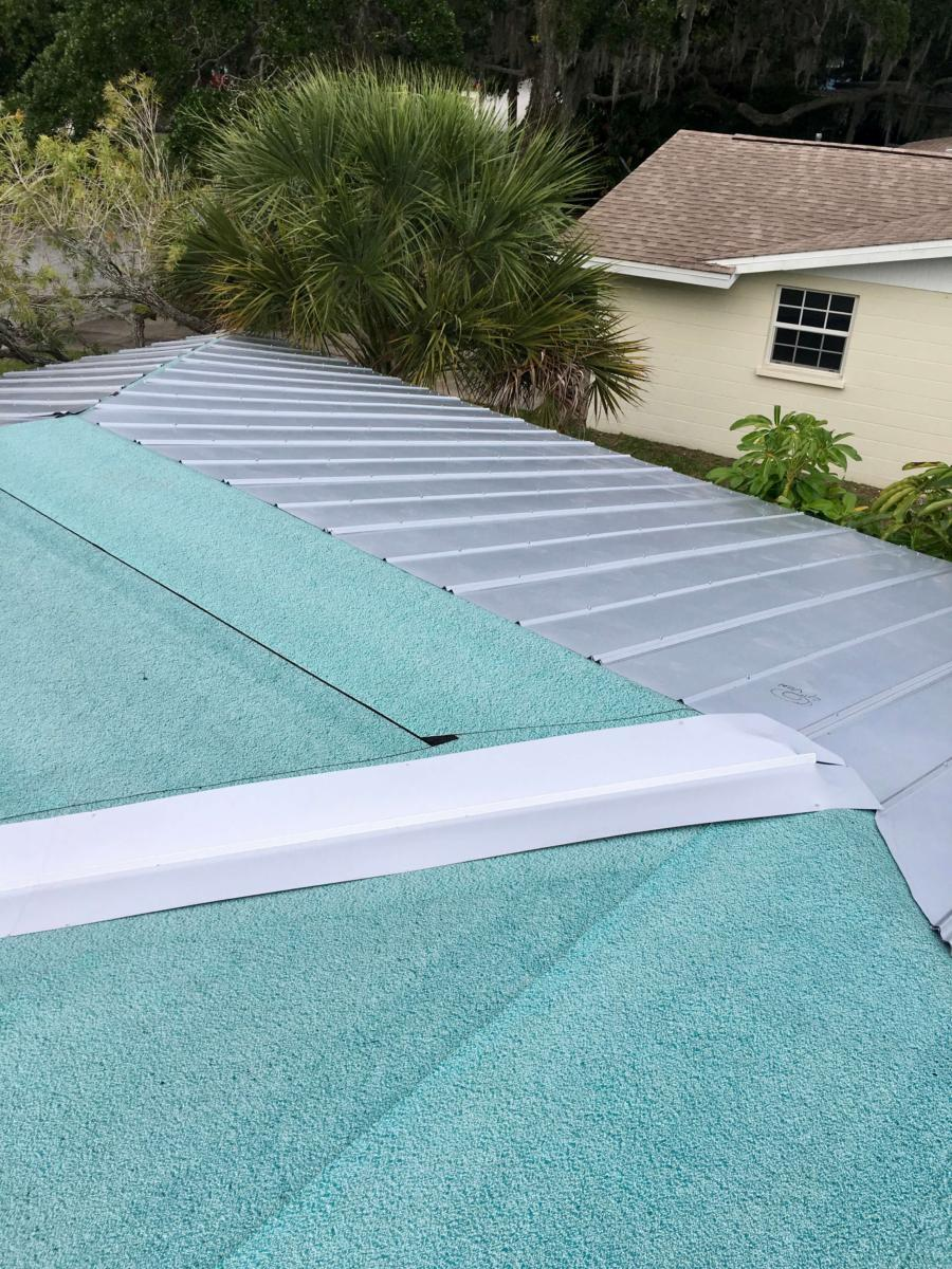 Metal Roof, Panel Installation, Zoller Roofing, Sarasota FL