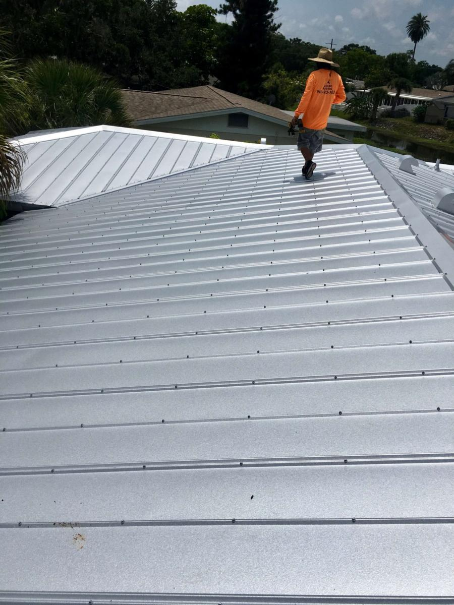 Metal Roof, Metal Panels, Zoller Roofing, Sarasota FL