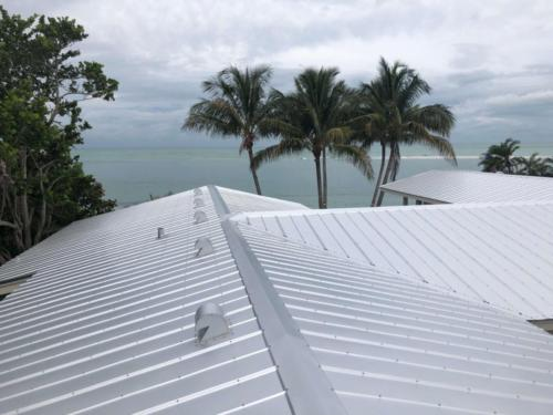 5 V Crimp Metal Roof, Birds Eye View, Zoller Roofing, Siesta Key, Sarasota FL