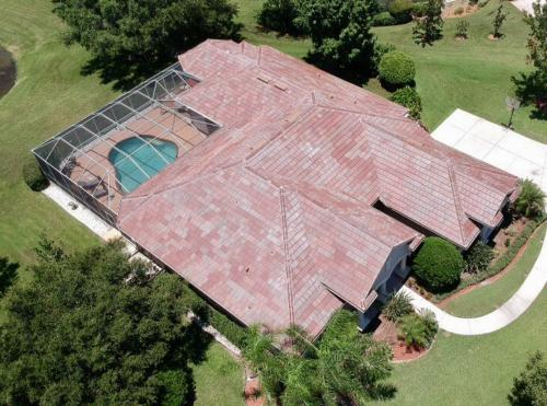 New Eagle Tile Roof, Sarasota FL, Blended Tile Color, Zoller Roofing