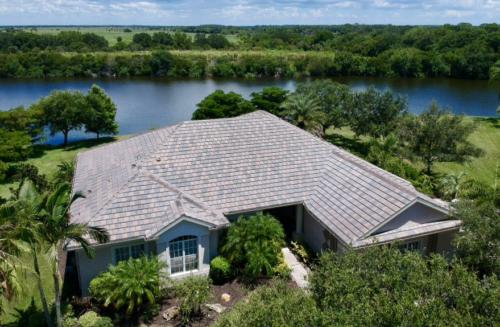 Zoller Roofing, New Eagle Tile Roof, Serenoa Lakes, Blended Slate Color Concrete Tile