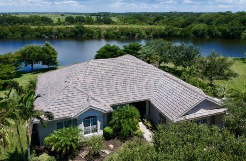Zoller Roofing, New Eagle Tile Roof, Serenoa Lakes, Blended Slate Color Concrete Tile