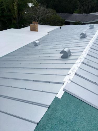 Metal Roof in Progress Zoller Roofing Sarasota FL (1)