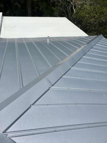 Metal Roof in Progress Zoller Roofing Sarasota FL