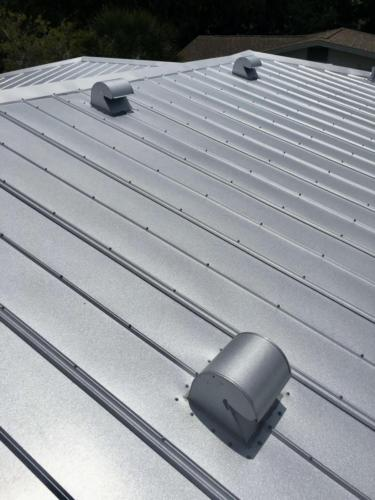 Metal Roof in Progress, Zoller Roofing, Sarasota FL