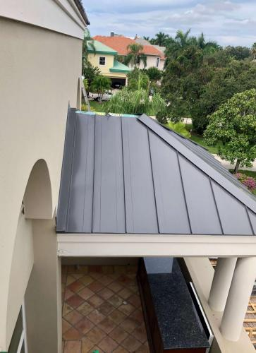 Cutstom Color Metal Roof Sarasota FL Zoller Roofing