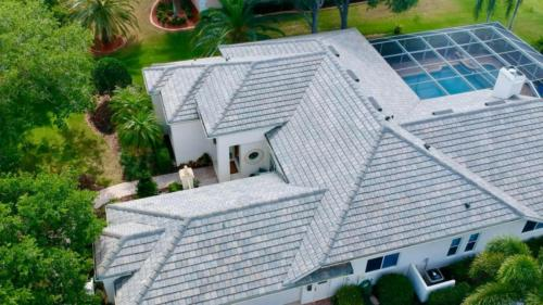 Eagle Tile, Flat Slate Blend, Birds Eye View, Sarasota FL