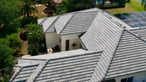 Eagle Tile Flat Slate Blend Left Side, Zoller Roofing, Sarasota FL