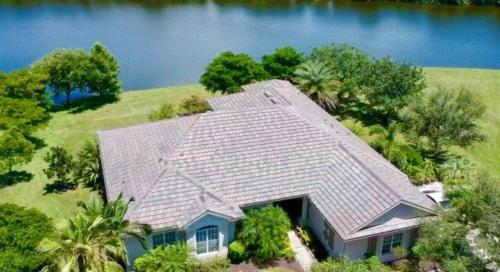 Eagle Tile Slate Blend Lakeside Home, Zoller Roofing, Sarasota FL