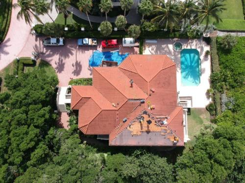 Longboat Key Tile Reroof in Progress, Zoller Roofing, Sarasota FL