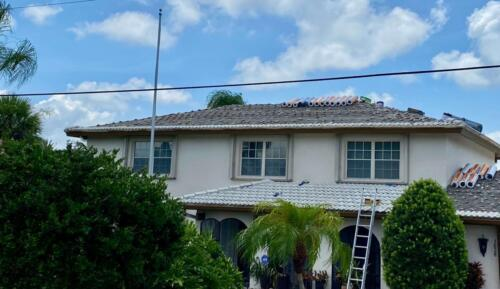 Zoller Roofing Inc. Tile removed from roof, Sarasota FL