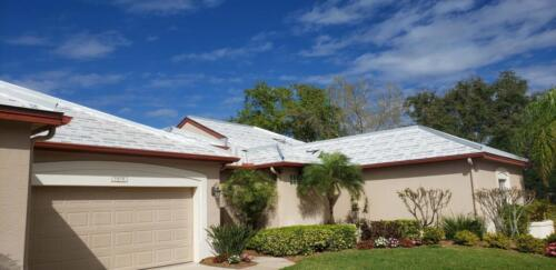 Roof dried in, ready for tile.  Tile Roof, Laurel Oak Country Club, Sarasota FL