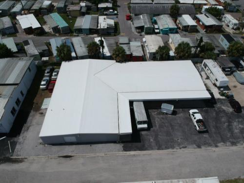 Metal Warehouse With new TPO Roof, Sarasota FL