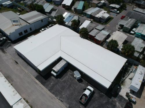 Metal Warehouse With new TPO Roof, Sarasota FL View 2