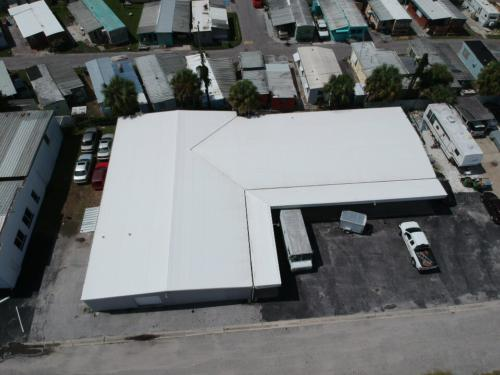 Metal Warehouse With new TPO Roof, Sarasota FL View 3
