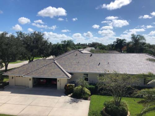 Slate Blend Flat Eagle Tile Roof, Zoller Roofing, Sarasota FL